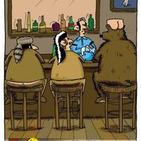 Maci a bárban :)