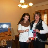 A máltai út nyertese - Fazakas Fanni átvette a díjat