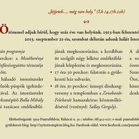 Évfordulós ünnepség: szeptember 21-én