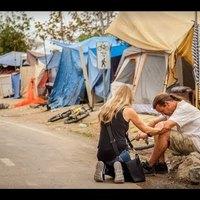 Sátorlakó hontalanok Kaliforniában