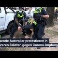 Tausende Australier protestieren in mehreren Städten gegen Corona-Impfungen