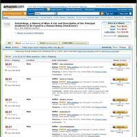 Hubbard könyvek az Amazon.com -on 1 cent / db áron