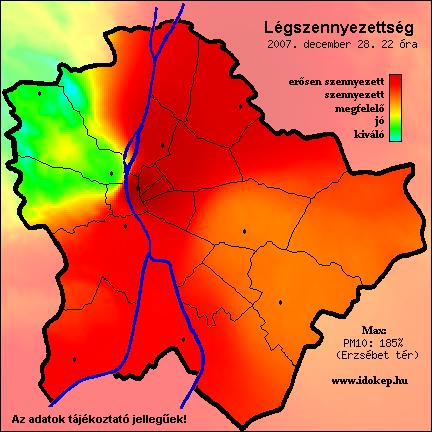 légszennyezettségi térkép budapest Légszennyezettségi térképek   Óbuda több mint város! légszennyezettségi térkép budapest