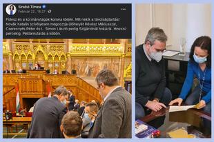 Bort iszik és vizet prédikál Szabó Tímea