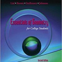 Essentials Of Geometry For College Students (2nd Edition) Download