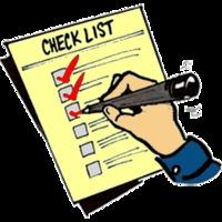 Check list / Ellenőrzési lista a hajóra