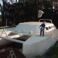 Homemade catamaran   yoshi 48