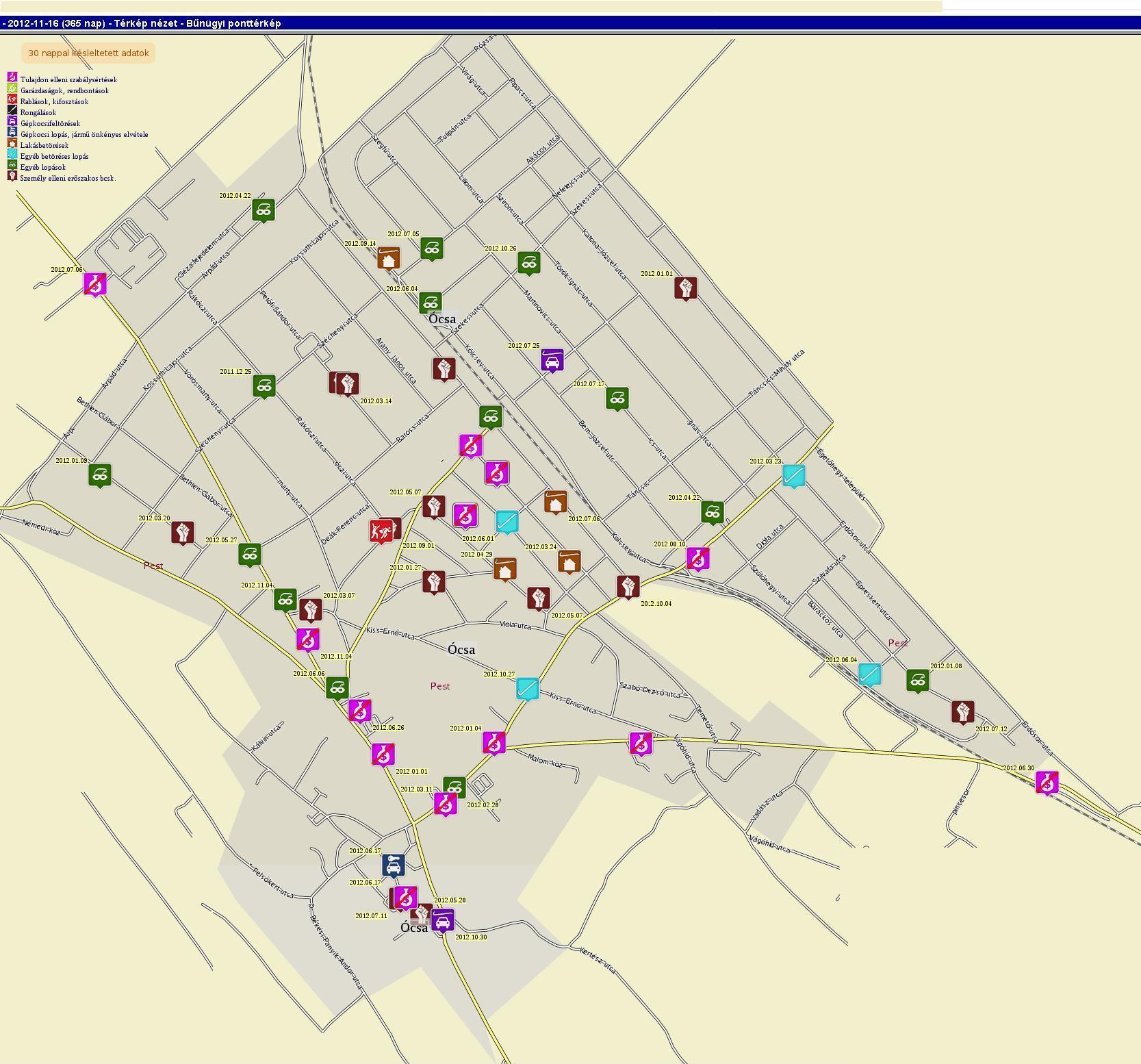 ócsa térkép Ócsai_térkép   Ócsa.blog.hu ócsa térkép