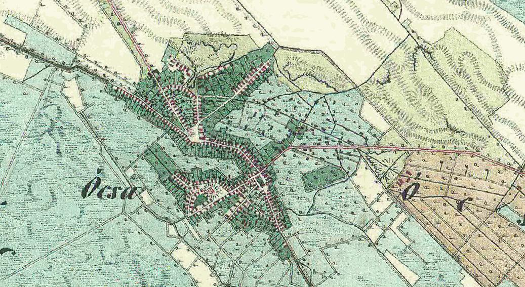 ócsa térkép Ócsa régi térképe   Ócsa.blog.hu ócsa térkép