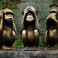Mit szimbolizál a három bölcs majom?