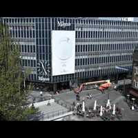Kézzel festett óriásplakát Dániában