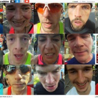 A maraton igazi arcai, avagy mennyi arckifejezés jelenik meg a küzdelem során