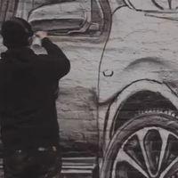 Bemutatóterem street art módra. Autók, amikbe sosem fogsz beleülni