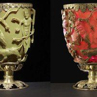 Évtizedeken át ejtette ámulatba a tudósokat a megvilágítva színt váltó ókori , Lükurgosz-kupa
