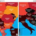 A járványgörbe alakulása térképeken