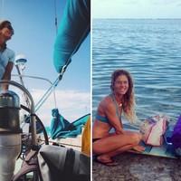 Liz Clark a világ körül hajókázik Amelia macskájával