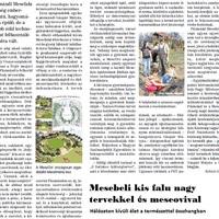A Pázmándi Mesefaluról a Fehérvári 7 nap c. újságban