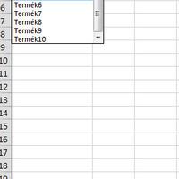 Excel Validation List kiválasztott elemének automatikus frissítése