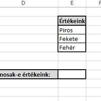 Vasárnapi fejtörő Excelből: egyező szöveges cellák - extra kérdéssel