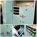 Retro konyhaszekrényből ruhásszekrényt varázsoltunk a gyerekszobába
