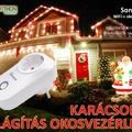 S20 okoskonnektor a karácsonyi díszkivilágítás és a karácsonyfa-világítás okosvezérlésére