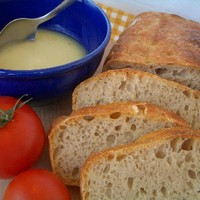 Dagasztás nélküli kenyér jóféle kacsazsírral