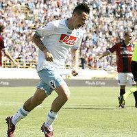 A Napoli utolérte a Milant, Rudolf gólpasszt adott