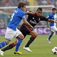 Robinho góljával a bajnoki cím kapujában a Milan