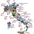 Nagy olasz souvenir térkép, vagyis honnan, mit hozzunk ajándékba