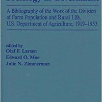 ,,LINK,, Sociology In Government: A Bibliography Of The Work Of The Division Of Farm Population And Rural Life, U.s. Department Of Agriculture, 1919-1953. brand hours Never Comprar YELLOW largo scores build