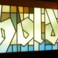 Ólomüveg graffiti installáció