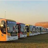 A VB csapatszállító buszai