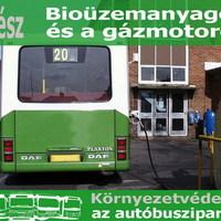 Környezetvédelem a busziparban II. – Gázüzem és bioüzemanyagok