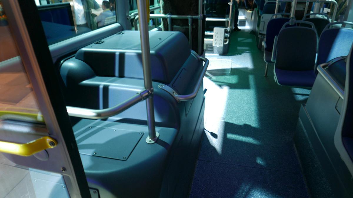 Scania Citywide. Elektromos buszba ekkora első kerékjárat? Sok lesz ez.