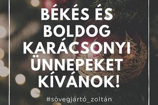 Békés és boldog #karácsony -t kívánok mindenkinek!
