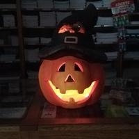 Halloweeni töklámpás figyel minket :)