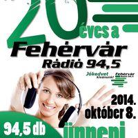 20 éves a Fehérvár Rádió 94,5
