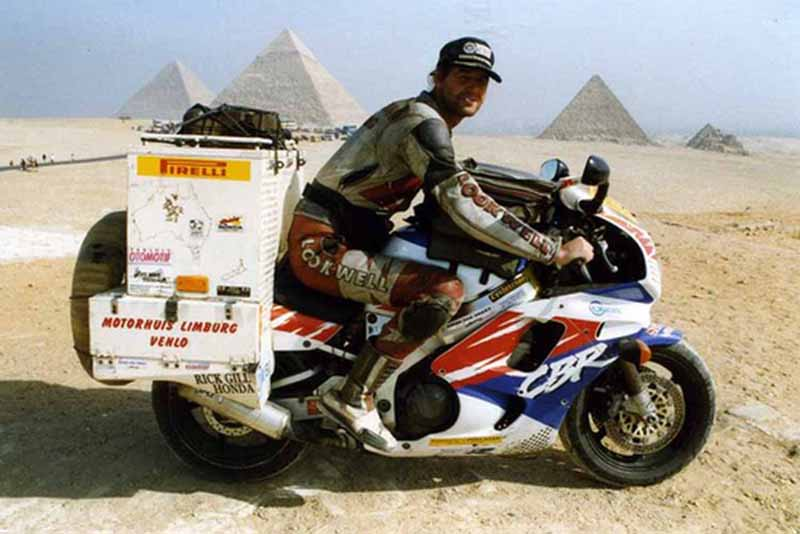 Sjaak Lucassen is on a different type of trip on his Yamaha R1