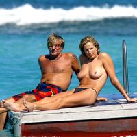 Nude Beach: Penny Lancaster