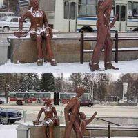 Fickós szobor illúzió