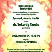 Meghívó dr. Vekerdy Tamás előadására