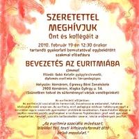 MEGHÍVÓ a Bevezetés az euritmiába előadásra