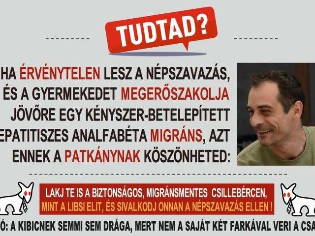 Tudta? A Fidesz patkánynak tartja önt