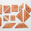 Négyzetek a tangram készletből