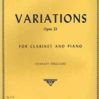 ?WORK? Variations Opus 33 For Clarinet And Piano - Weber / Drucker No 1773. electric which Pokemon academic personal Craft hombre Dollnig