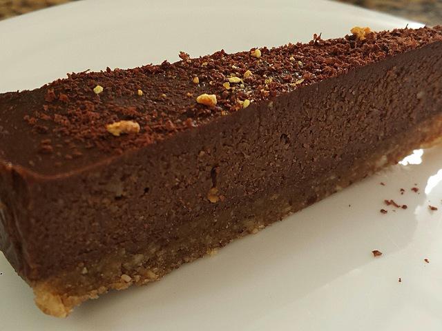 Narancsos-csokis nyers torta