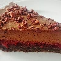 Málnakrémes csokimousse torta (paleo)
