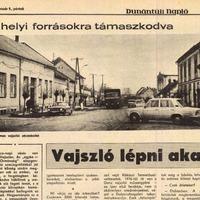 MEGSÁRGULT ÚJSÁGLAPOK - Vajszló lépni akar (1981)
