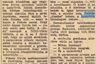 Megsárgult újságlapok - Leszerelt az ezred fia (1969)
