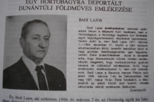 """Badi Lajos internált piskói parasztember """"emlékirata"""""""